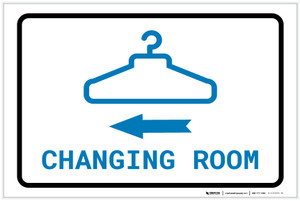 Changing Room Left Arrow with Icon Landscape v2 - Label
