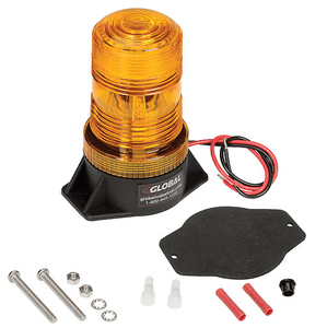 Amber LED Permanent Mount Forklift Strobe Light