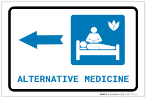 Alternative Medicine Left Arrow with Icon Landscape - Label