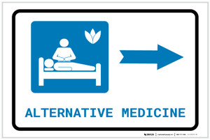Alternative Medicine Right Arrow with Icon Landscape - Label