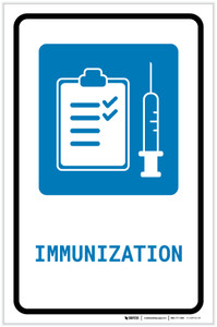 Immunization with Icon Portrait - Label