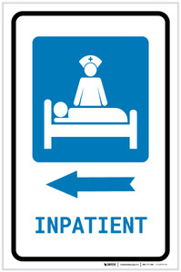 Inpatient Left Arrow with Icon Portrait - Label