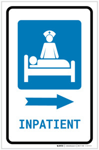 Inpatient Right Arrow with Icon Portrait - Label