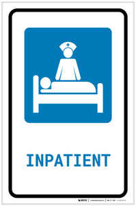 Inpatient with Icon Portrait - Label