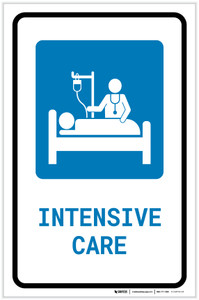 Intensive Care with Icon Portrait - Label
