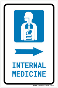 Internal Medicine Right Arrow with Icon Portrait - Label