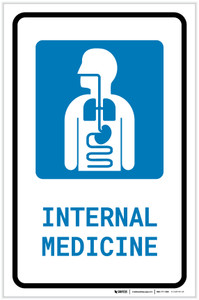 Internal Medicine with Icon Portrait - Label