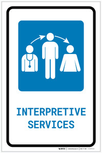 Interpretive Services with Icon Portrait - Label