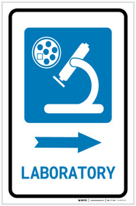 Laboratory Right Arrow with Icon Portrait - Label