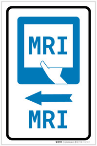 MRI Left Arrow with Icon Portrait - Label