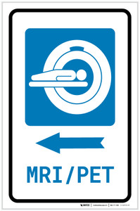 MRI/PET Scan Left Arrow with Icon Portrait - Label