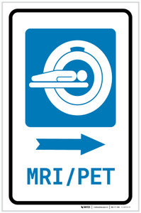 MRI/PET Scan Right Arrow with Icon Portrait - Label