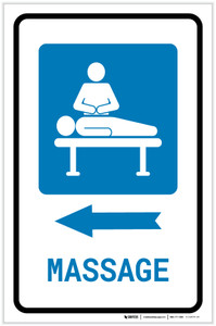 Massage Left Arrow with Icon Portrait - Label