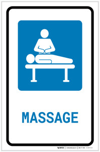 Massage with Icon Portrait - Label