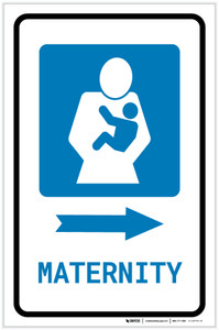 Maternity Right Arrow with Icon Portrait - Label