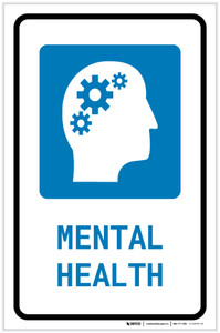 Mental Health with Icon Portrait - Label