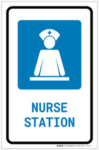 Nurse Station with Icon Portrait - Label