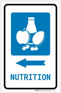 Nutrition Left Arrow with Icon Portrait - Label