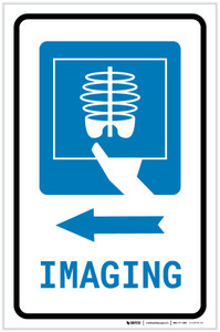X-Ray Imaging Left Arrow with Icon Portrait - Label