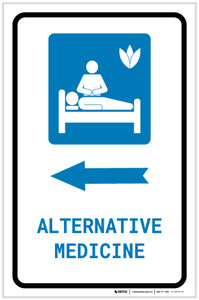 Alternative Medicine Left Arrow with Icon Portrait - Label