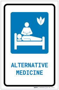 Alternative Medicine with Icon Portrait - Label