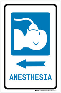 Anesthesia Left Arrow with Icon Portrait - Label