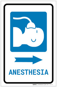 Anesthesia Right Arrow with Icon Portrait - Label