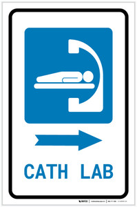 Cath Lab Right Arrow with Icon Portrait - Label