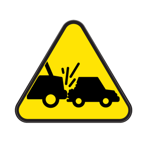 Vehicle Collision or Rollover Die Cut Label