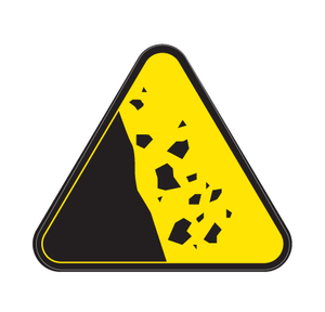 Ground Failure Die Cut Label