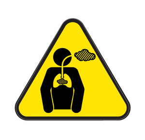 Chronic Hazardous Substances Die Cut Label