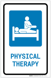 Physical Therapy with Icon Portrait - Label