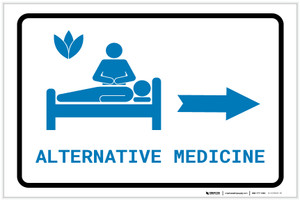 Alternative Medicine Right Arrow with Icon Landscape v2 - Label