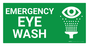 Emergency Eye Wash Sign (Wall)