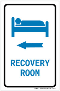 Recovery Room Left Arrow with Icon Portrait v2 - Label