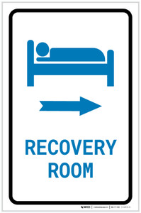 Recovery Room Right Arrow with Icon Portrait v2 - Label
