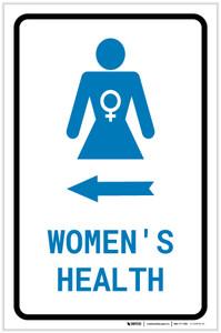 Women's Health Left Arrow with Icon Portrait v2 - Label