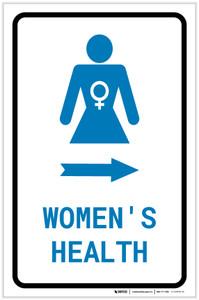 Women's Health Right Arrow with Icon Portrait v2 - Label
