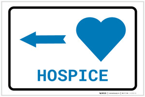 Hospice Left Arrow with Icon Landscape v2 - Label