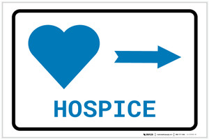 Hospice Right Arrow with Icon Landscape v2 - Label