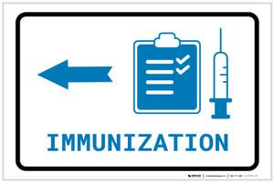 Immunization Left Arrow with Icon Landscape v2 - Label