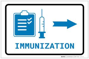 Immunization Right Arrow with Icon Landscape v2 - Label