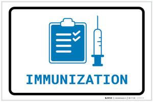 Immunization with Icon Landscape v2 - Label