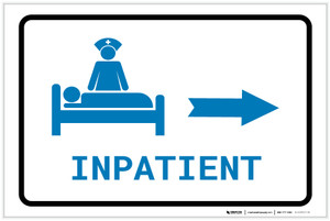 Inpatient Right Arrow with Icon Landscape v2 - Label