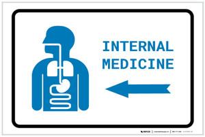 Internal Medicine Left Arrow with Icon Landscape v2 - Label