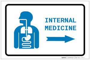 Internal Medicine Right Arrow with Icon Landscape v2 - Label