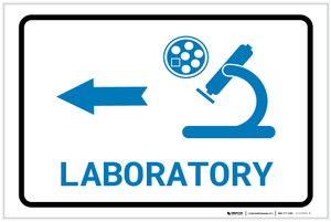 Laboratory Left Arrow with Icon Landscape v2 - Label