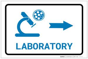 Laboratory Right Arrow with Icon Landscape v2 - Label
