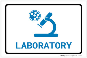 Laboratory with Icon Landscape v2 - Label