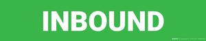 Inbound - Zone Floor Sign